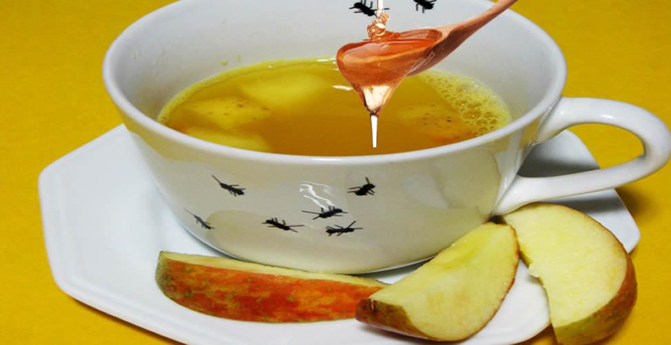 Remédio Caseiro Para Faringite - Chá de Maçã Com Mel
